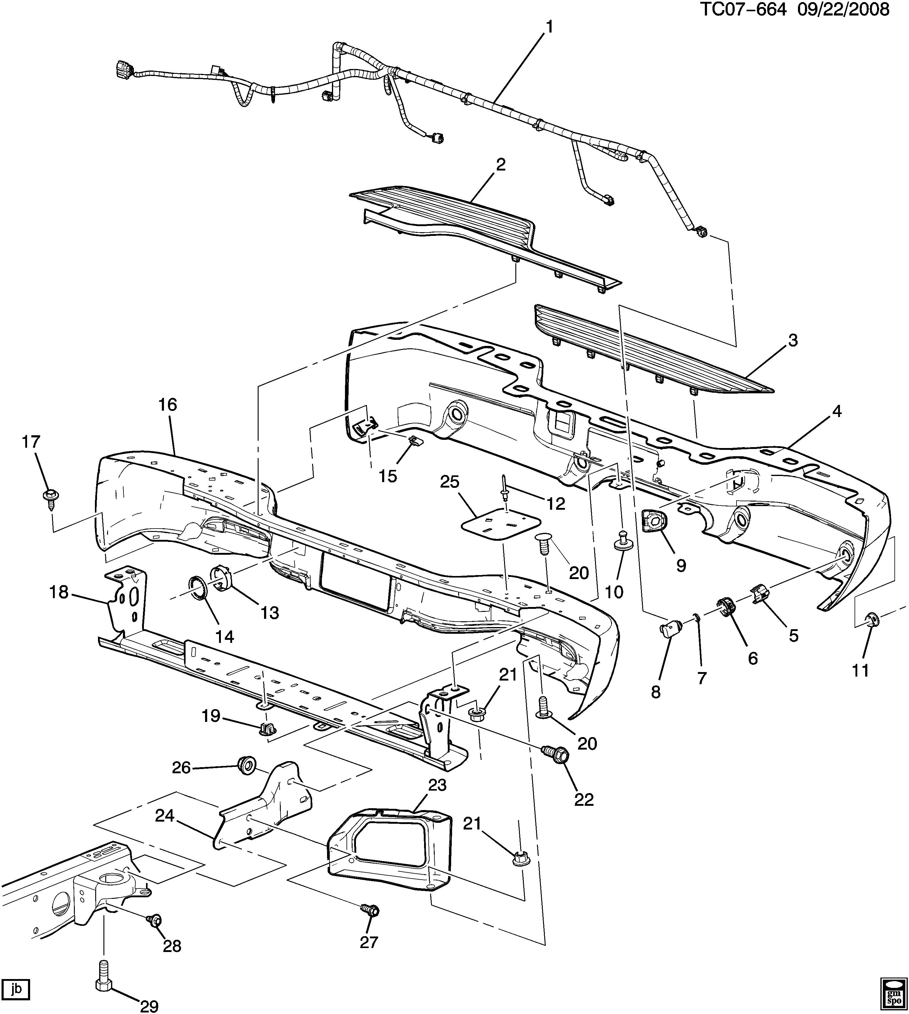 K159(36) BUMPER/REAR (CADILLAC