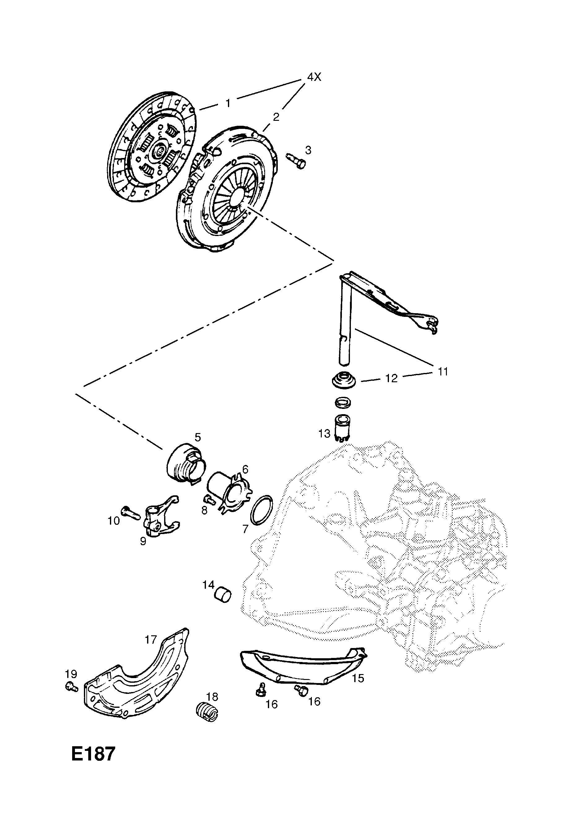Замена сцепления на опель зафира б