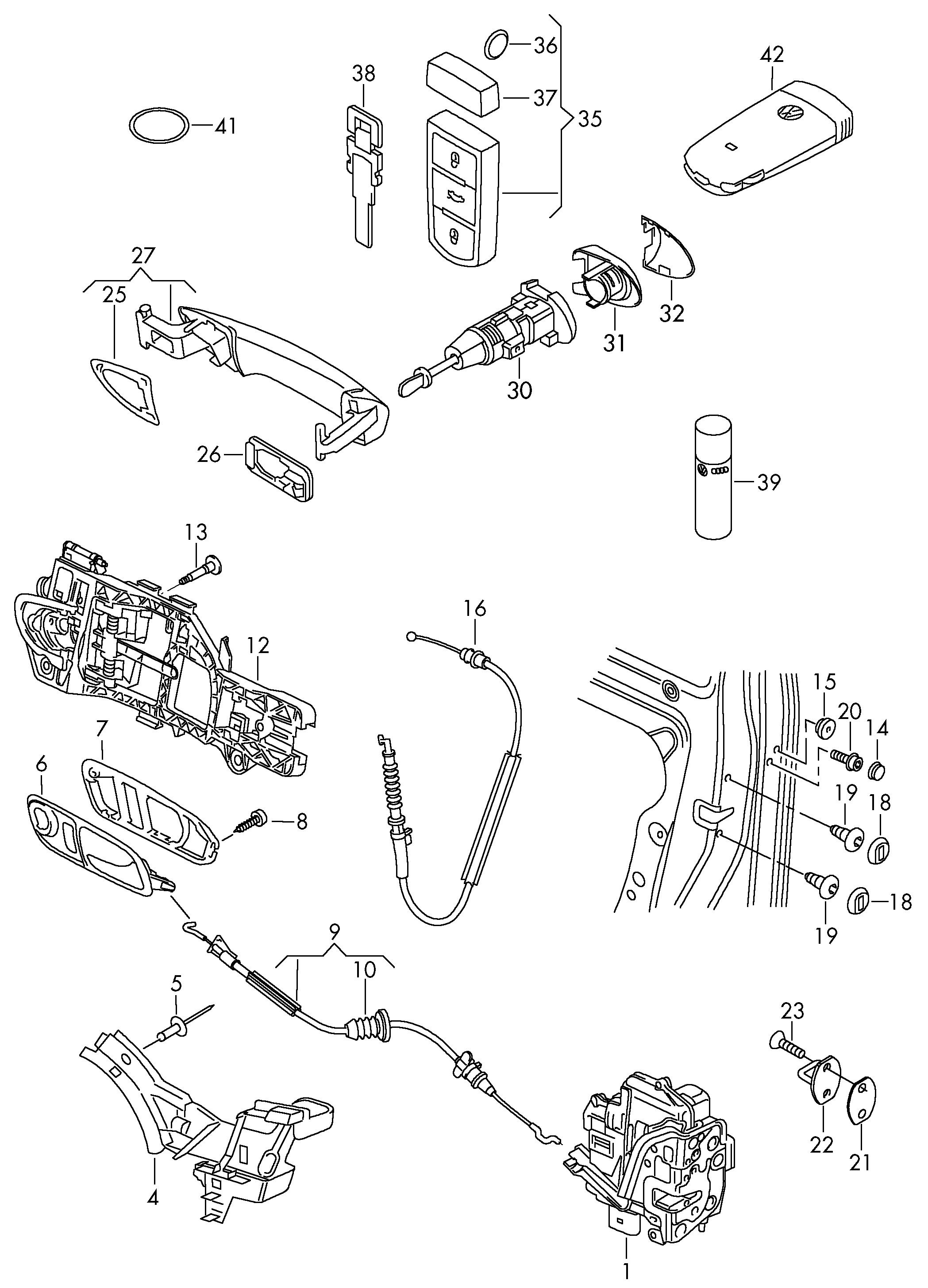 Volkswagen Cc 2013 2017 Key Lock Cylinder Sets