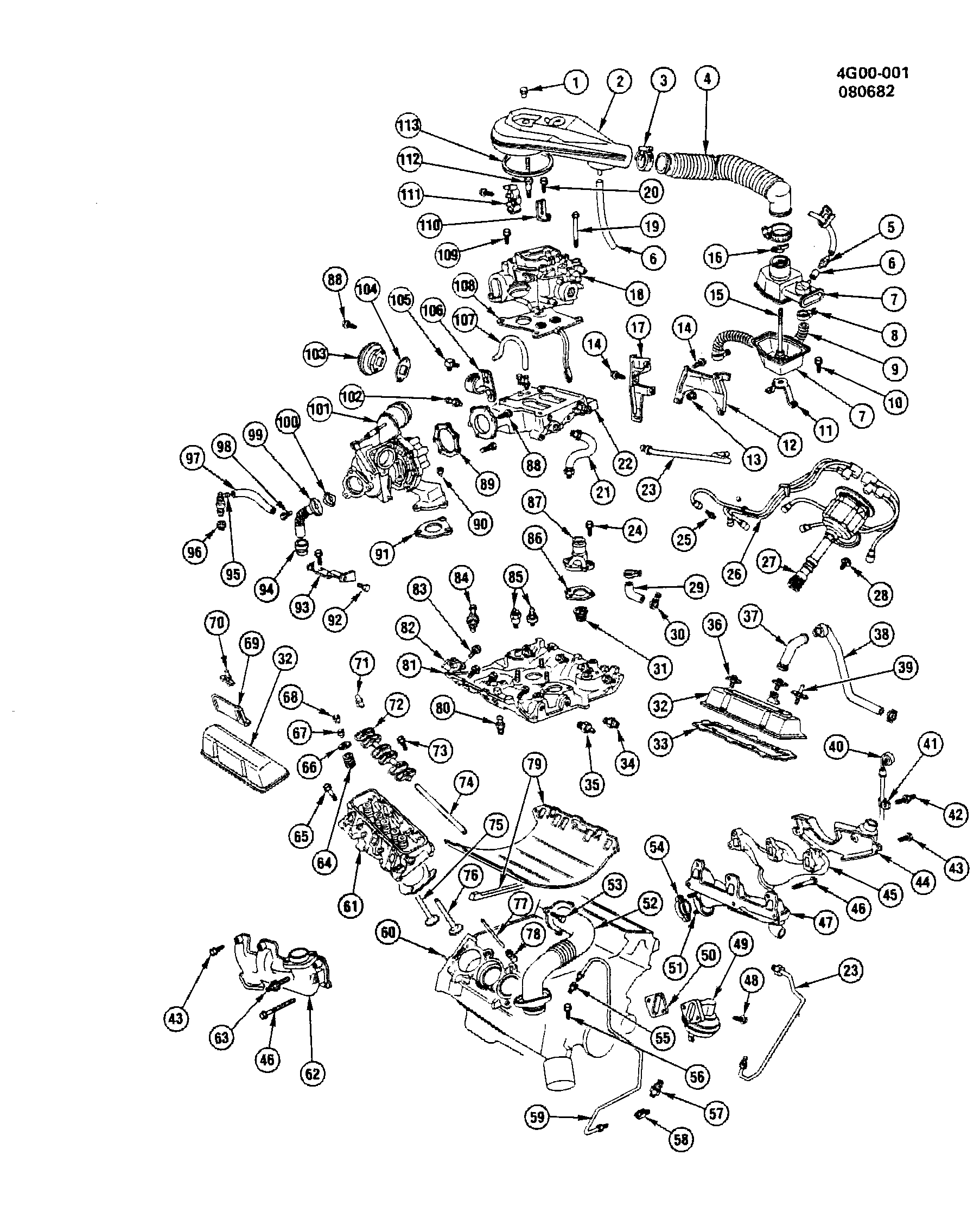 buick regal - g engine asm-3.8l v6 part 2 (lc8/231-3,8 ... buick v6 engine diagram