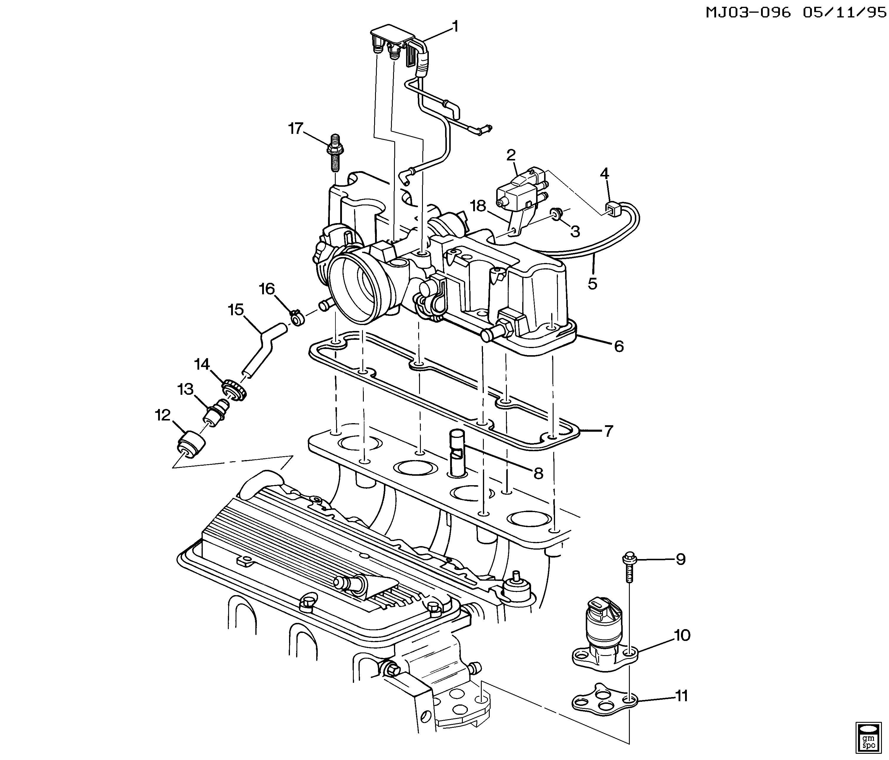 Pontiac       Sunfire     J EGR VALVE   RELATED PARTS  LN222