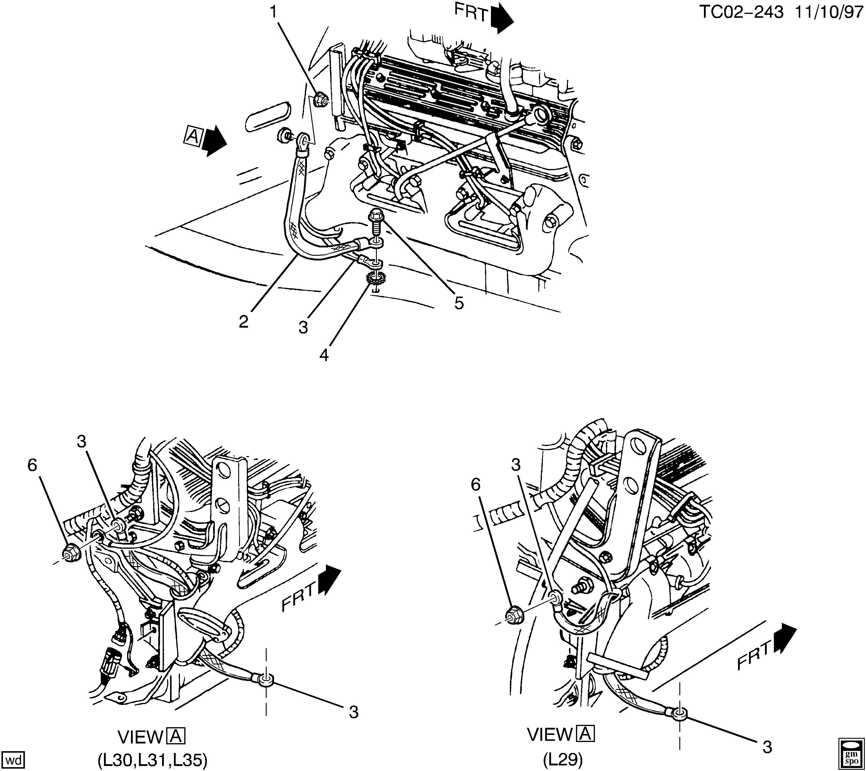 61090 c1500 suburban 2wd wiring harness ground straps \u003e chevrolet epc Wiring Harness Diagram at panicattacktreatment.co