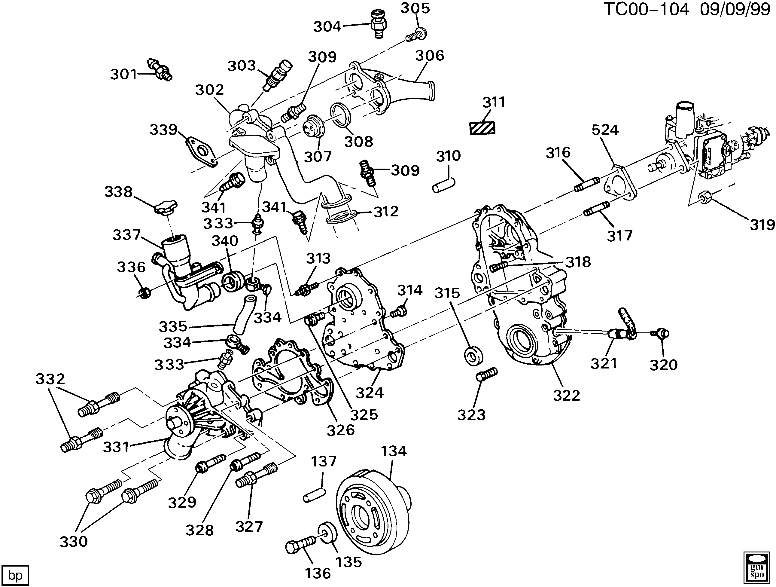 chevy 3 5l engine parts diagram chevy malibu 3 5l engine diagram c1500 suburban 2wd - engine asm-6.5l v8 diesel part 3 ...