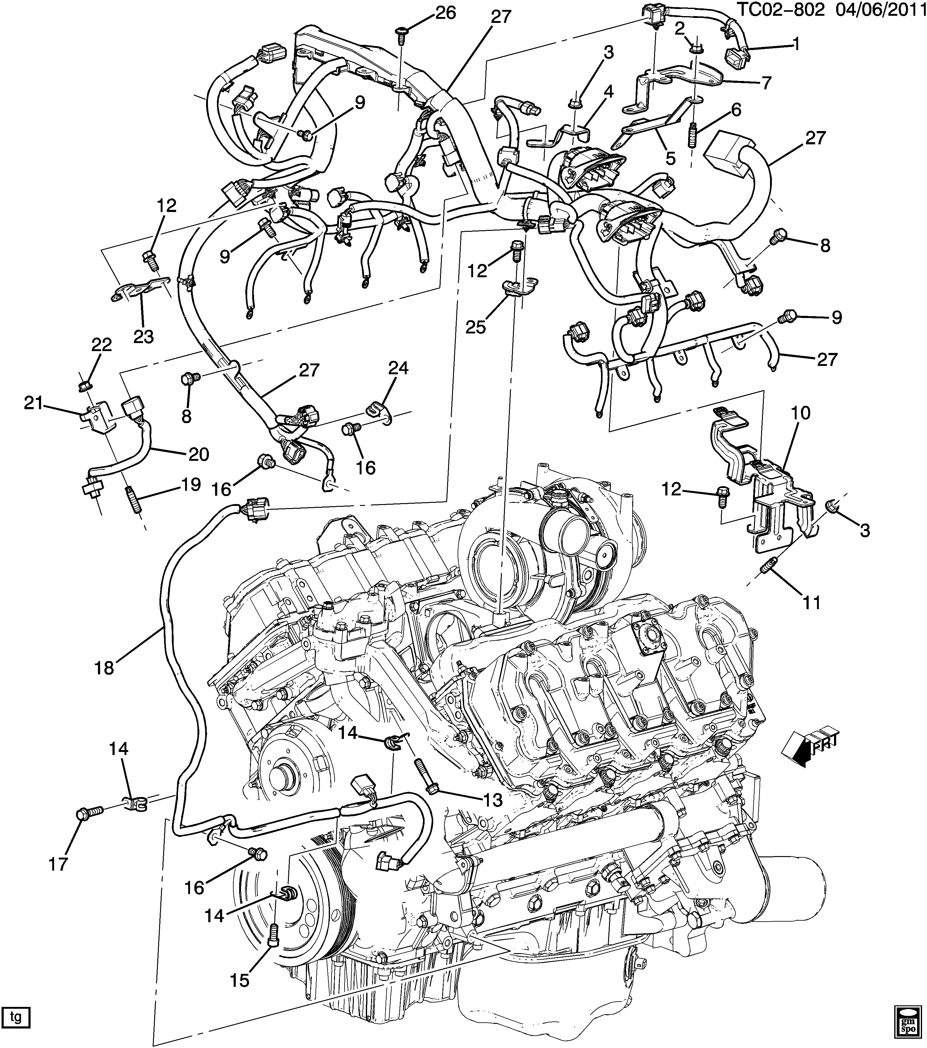 diagram of how a lmm engine cadillac escalade esv awd - ck2,3 wiring harness/engine ... burn diagram of how gas engines