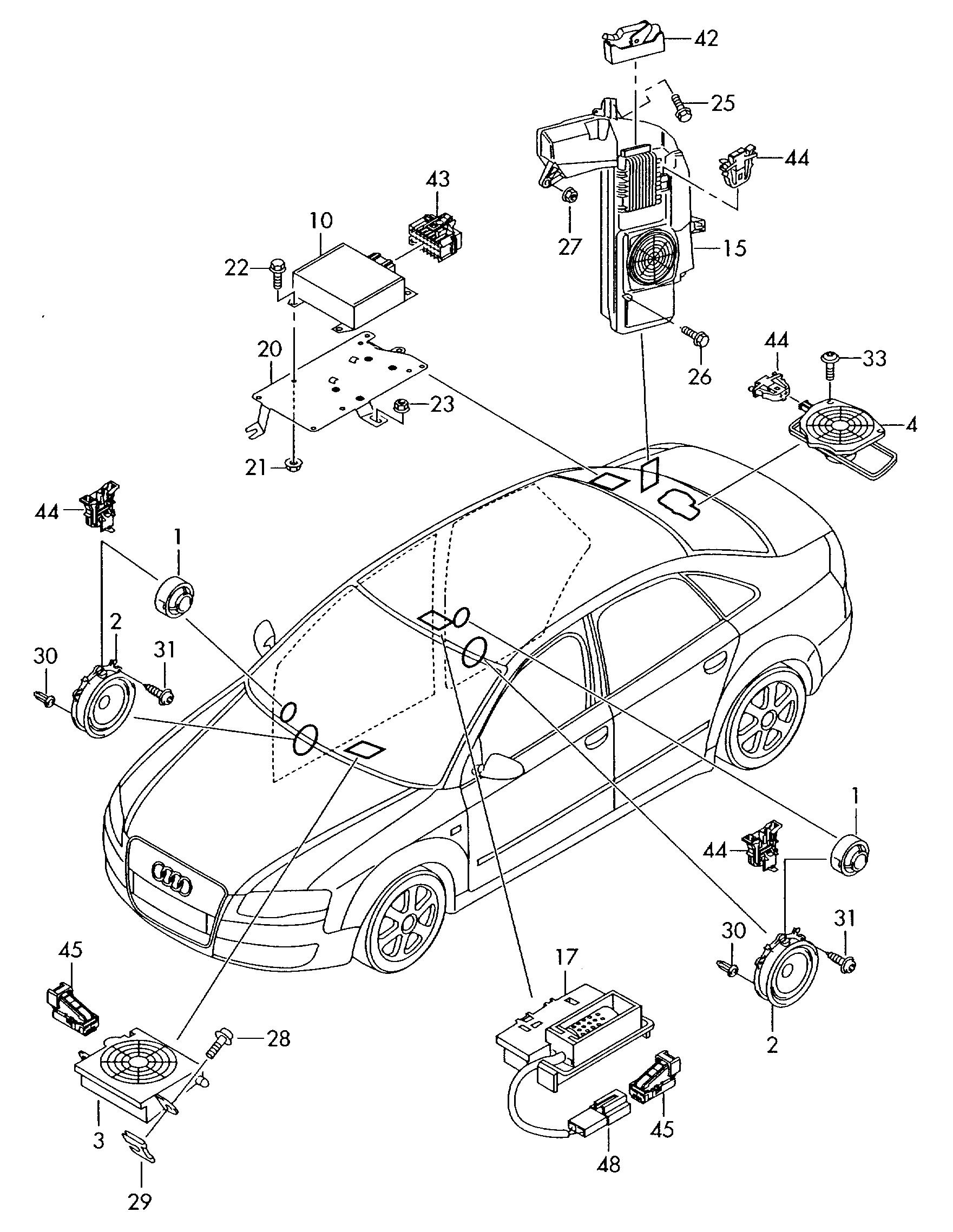 2006 audi a4 parts diagram etka  audi  auto parts catalog